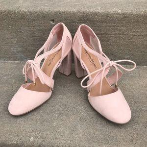 Christian Siriano pink pump heels